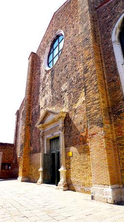 murano: ancient church architecture in Murano, Venice, Italy