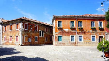 Murano: old building architecture in Murano, Venice, Italy Stock Photo