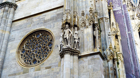 saint stephen cathedral: details and ornaments of St. Stephan cathedral in Vienna, Austria