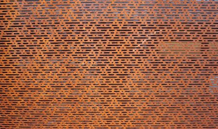 perforated: rustic perforated metal horizontal