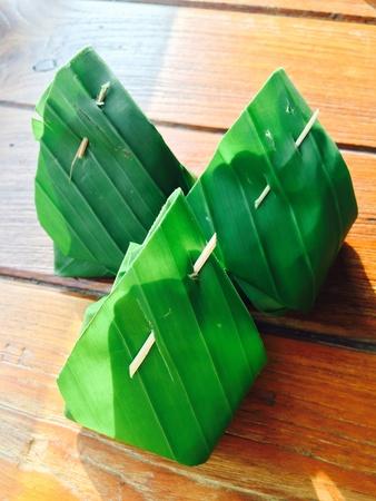 design: Three of thai custard sweet dessert packaging design