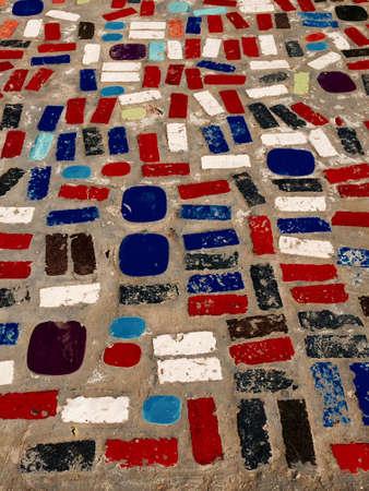 pattern: Mixed colorful geometric pattern