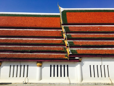 Wat mahathat temple roof layering elevation historical architecture Phitsanulok, Thailand
