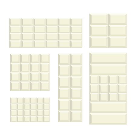 White Chocolate bar variation pattern background Çizim
