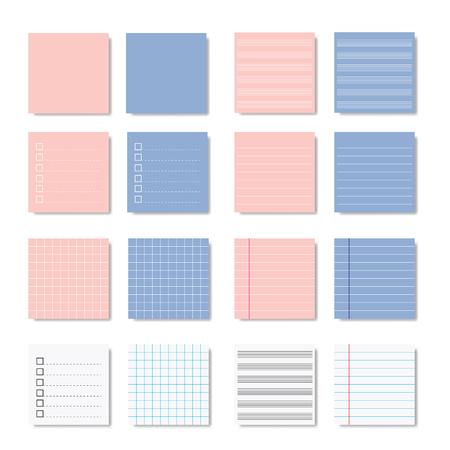 Memo paper note set variation vector design