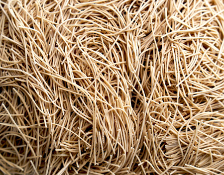 dry noodle nest texture and material background 스톡 콘텐츠