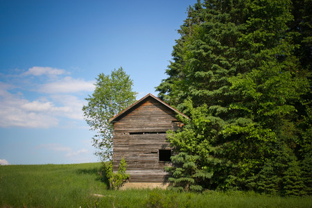 Old wood small cabin photo