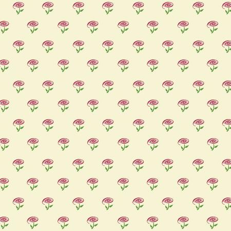 Minimalistisch bloemenpatroon van crèmekleuren