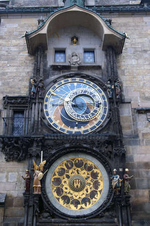 astronomic: astronomic clock in Prague, Czech