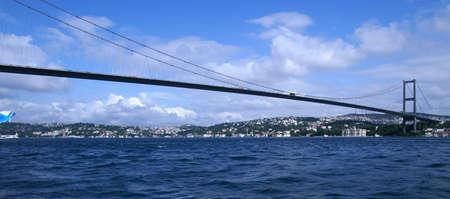 pontine: bridge across bospurus strait connecting europe and asia