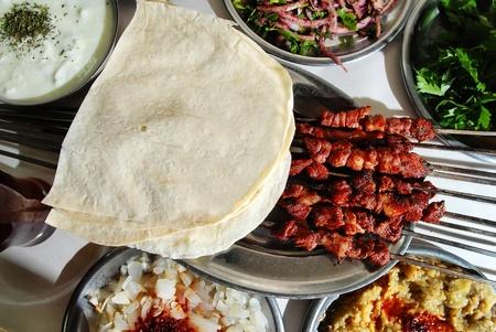 turkish bread: Shish kebab