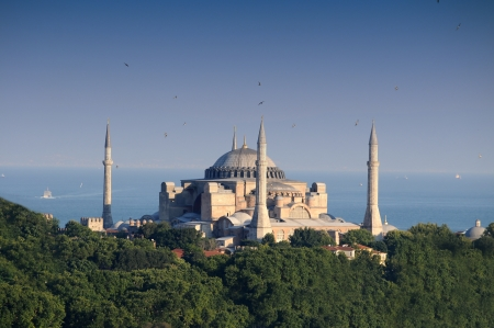 blue mosque: Hagia Sophia  Editorial