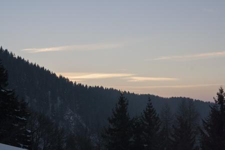 nebbia: Tramonto