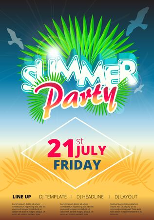 Summer beach party event poster and flyer template design in summer beach party event poster and flyer template design in royalty free cliparts vectors and stock illustration image 63271209 maxwellsz