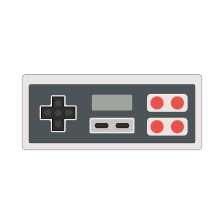 nineties: Vector joystick icon illustration. Geek gaming retro gadget from the nineties. Old game entertainment device of the 90s. Gamepad from the 20th century