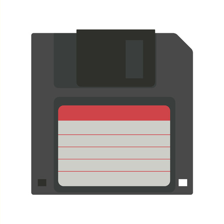 20th: Floppy disk vector illustration. Geek gaming retro gadgets from the nineties. Old game entertainment devices of the 90s. Electronics from the 20th century