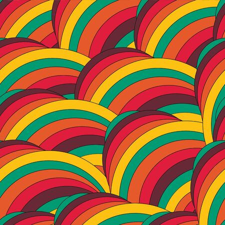 Abstract trendy geometric seamless pattern design. Vector modern wave repetitive print, best for apparel, wrapping paper, clothing, etc. Hpster rainbow background