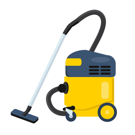 Vacuum cleaner vector illustration. Hoover icon. Cleaning machine symbol Illustration