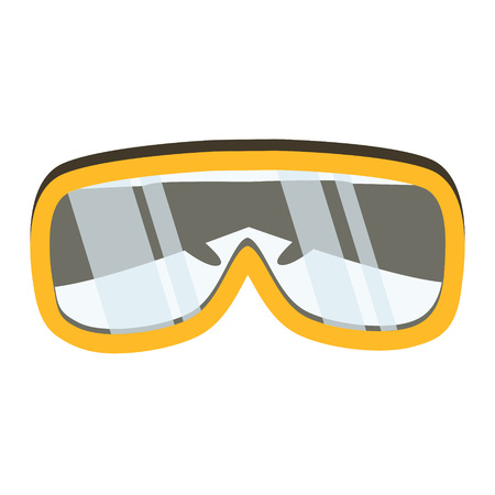 safety glasses: Safety glasses tool icon. Industrial or household instrument for general or utility purposes. Protective eyewear or goggles vector illustration Illustration