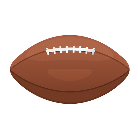 gridiron: American or Canadian football vector icon. Sport leather ball equipment sign. Gridiron football symbol.