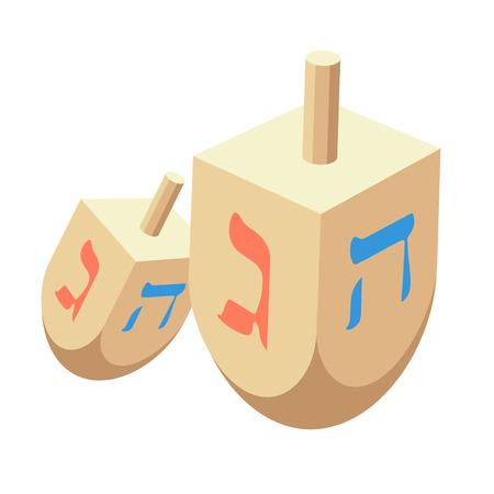 Dreidel Vector Illustration Holiday Of Hanukkah Element Jewish