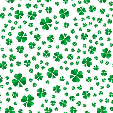patrik: Saint Patrick day seamless pattern design. La Fheile Padraig holiday background.