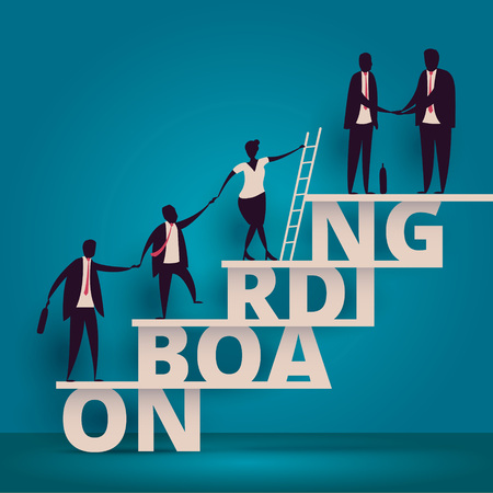 Business onboarding concept. HR manager hiring employee or workers for job. Recruiting staff or personnel in company. 版權商用圖片 - 74637177