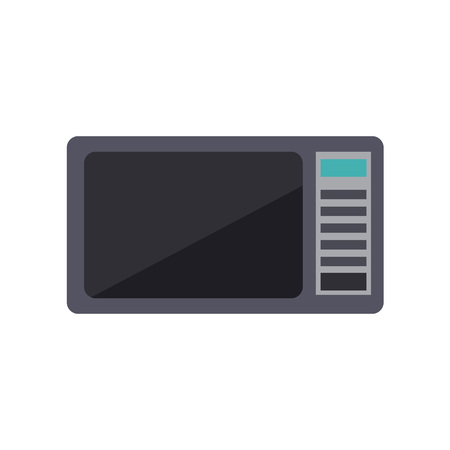 Microwave oven flat vector icon. Simple style kitchen appliance isolated on white background. Cartoon digital cooking device illustration.