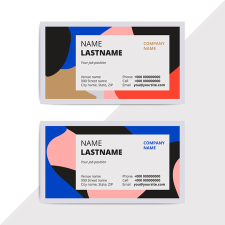 Trendy elegant business card templates modern luxury beauty trendy elegant business card templates modern luxury beauty salon or cosmetic shop layout with geometric cheaphphosting Images