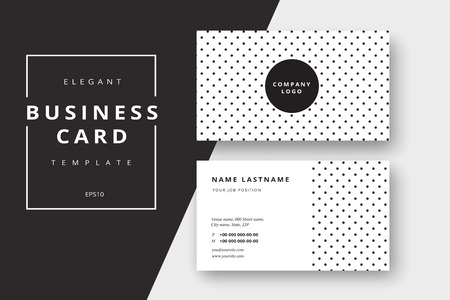 Trendy minimal abstract business card templates. Modern corporate stationary id layout with geometric lines. Vector fashion background design with information sample text.