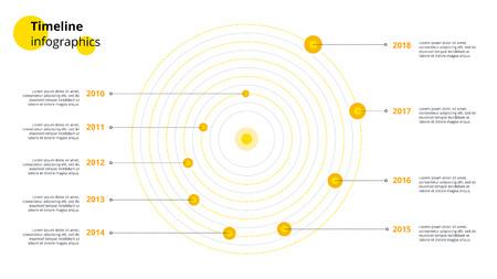 Spiral business timeline workflow infographics.