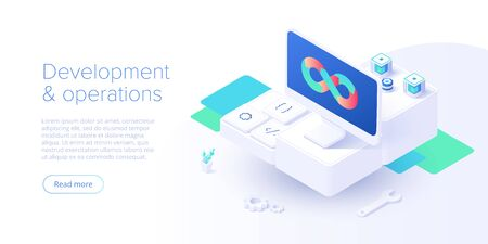 Web development concept in flat design.