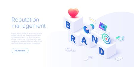 Building brand strategy in isometric