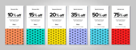 Modern promotion rectangular web banner for social media mobile apps. Elegant sale and discount promo backgrounds with abstract pattern. Email ad newsletter layouts.