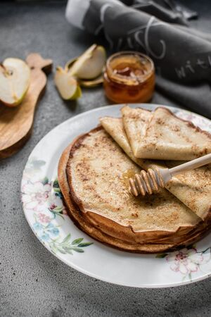 pancakes on a beautiful plate Stock fotó