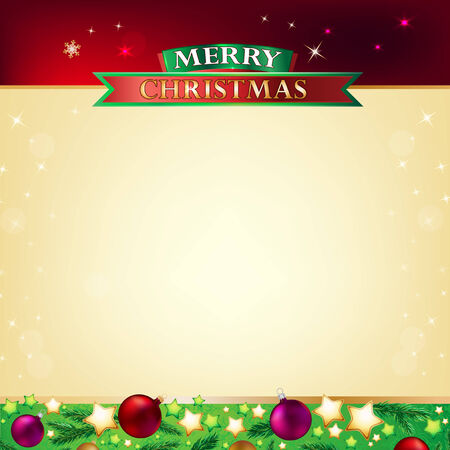 Vector illustration of beautiful christmas template for cards and greetings Vector