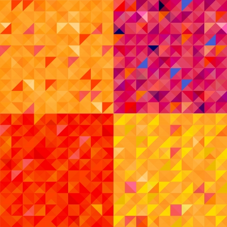 quadrat: The illustration of Colorful gold abstract pattern  Vector image