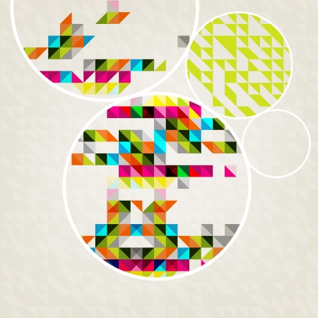 The illustration of Colorful abstract pattern  Vector image  Vector