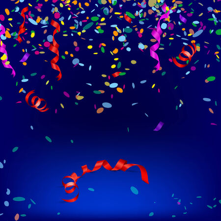 Vector illustration of confetti and streamers for multiple purposes  Vector