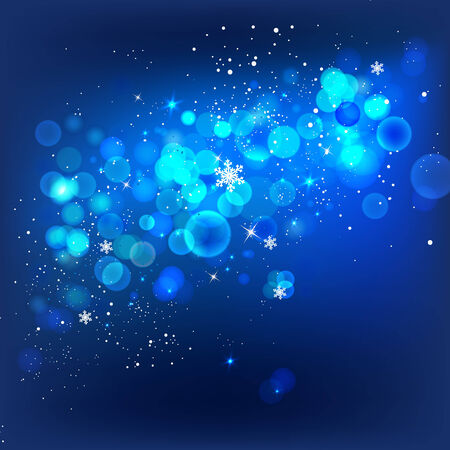 Vector winter background with beautiful lights and snowflakes Vector