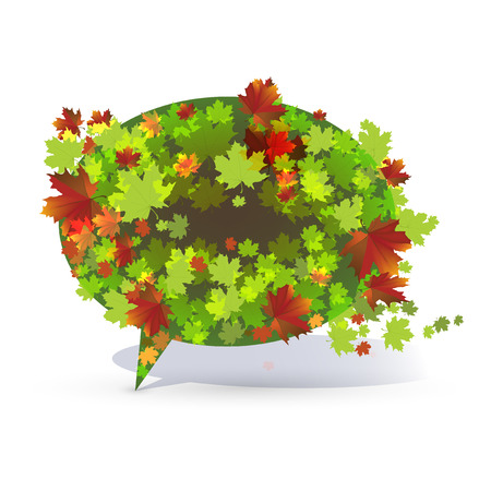 Decorative maple bubble in green and red colours Stock Vector - 25206394