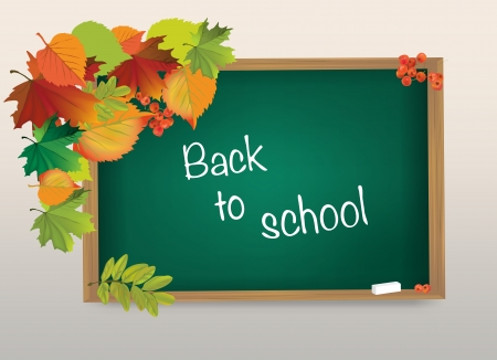 The illustration of school blackboard with  Back to school Stock Vector - 25206491