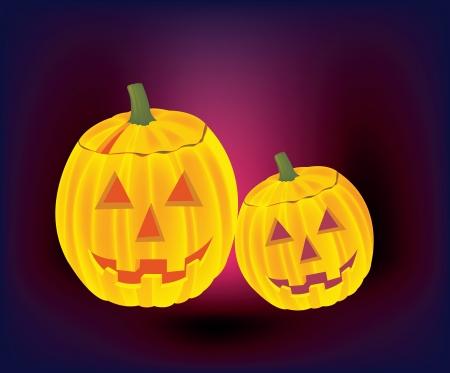 helloween: The illustration of autumn helloween pumpkins