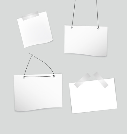 ollection: Vector сollection of various white note papers