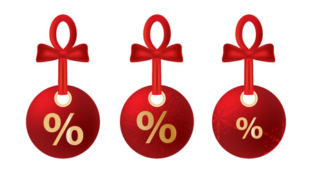 The illustration of beautiful christmas discount tags Stock Vector - 25206865