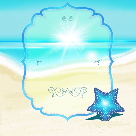 The illustration of beautiful seashore background. Vector image. Stock Vector - 25206985