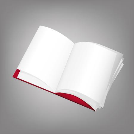 moleskine: The illustration of open moleskine, image  Illustration