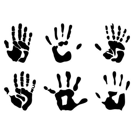 childishly: handprints black Illustration