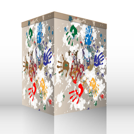 hands gift box