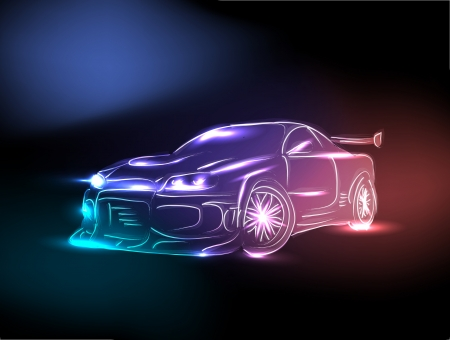 alloy wheel: speed car Illustration